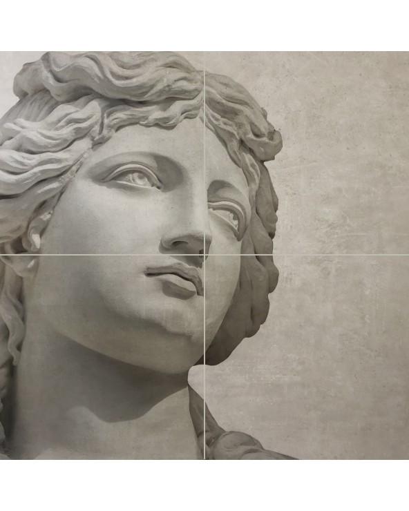 Impression Roma pack A sur carreaux unis Urban White