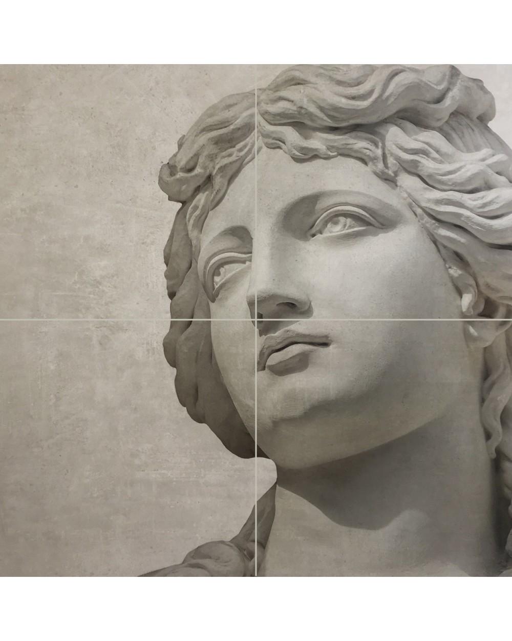 Impression Roma pack B sur carreaux unis Urban White