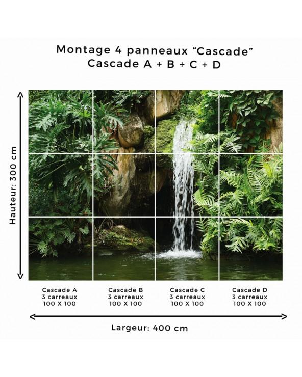 """Montage """"Cascade"""" panneaux A/B/C/D"""