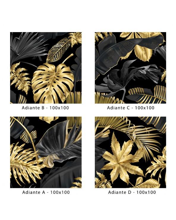 """Montage 4 carreaux 100x100 pour composition motif """"Adiante"""""""